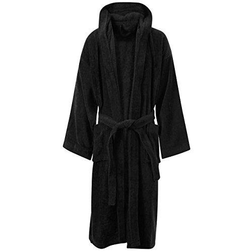 MYSHOESTORE - Peignoir - Uni - Manches Longues - Femme Multicolore bigarré Small Black / Hooded