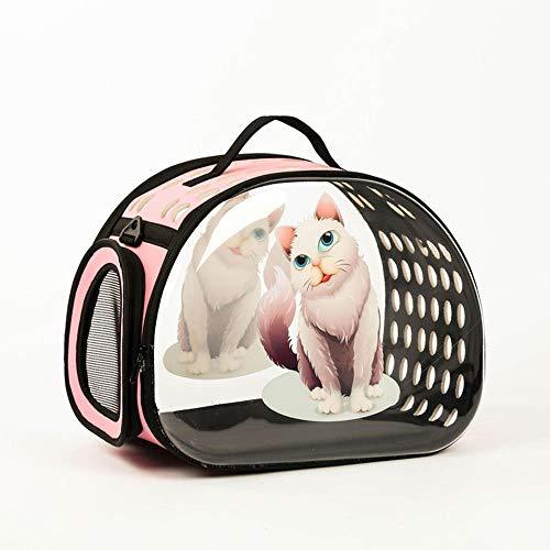 Pet Carrier Backpack Verstellbarer Safe Cat Dog Front Taschen Leichte Kopf Beine Schwanz aus Hände frei für Reisen Wandern Camping @ Pink-Slim cat Slim Carrier