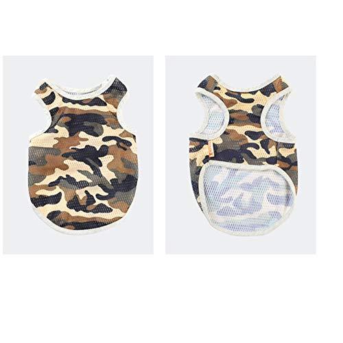 WEINANA Camouflage Hund Kleidung Haustiere in EIN goldenes Haar verwandelt Samojede Frühling und Herbst tragen atmungsaktive Mesh-Weste Haustierkleidung -