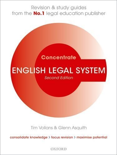 English Legal System Concentrate: Law Revision and Study Guide by Vollans, Tim, Asquith, Glenn (2011) Paperback
