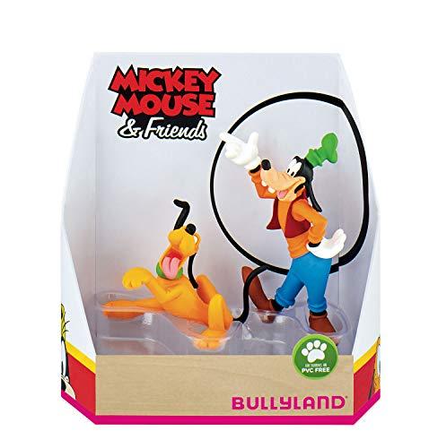 Bullyland - 15085 - Jeu de Plein Air - Disney Mickey Mouse - Coffret Cadeau - Pluto et Goofy, pour Enfants, Garçons et Filles - Multicolore