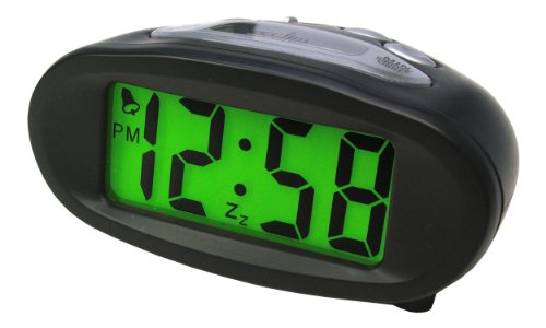 Acctim 14193 Eclipse Solar Dual Power Alarm Clock, Black