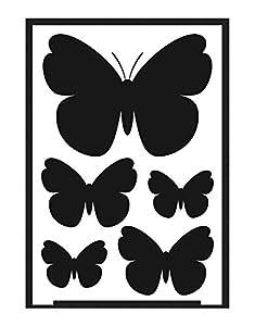 KREUL 74869 - Flexible Diseño Mariposa de la Plantilla A5 - Negativo