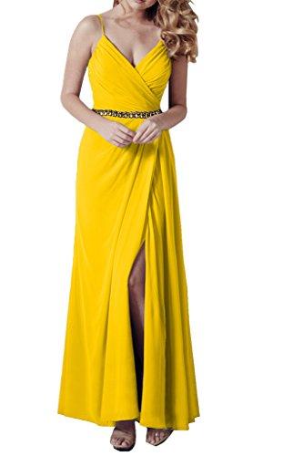 Missdressy -  Vestito  - linea ad a - Donna Jaune - Jaune
