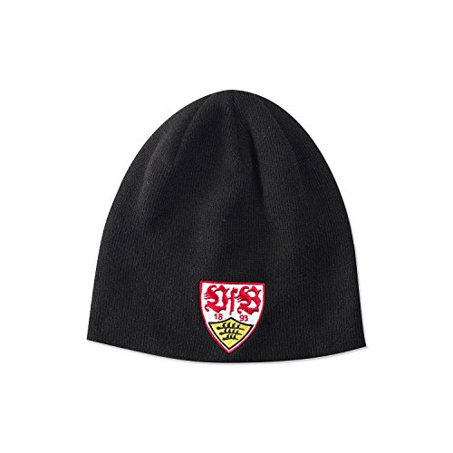 VFB Stuttgart schwarzer Beanie / Mütze mit Wappenstick - Custom Beanie Hüte