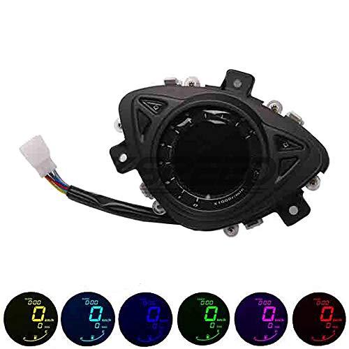 CHUDAN Für Yamaha 100RSZ7 Kilometerstand Instrument Motorrad Tacho Digital Manometer Hintergrundbeleuchtung LCD-Geschwindigkeitsmesser Einstellbar 7 Farbe