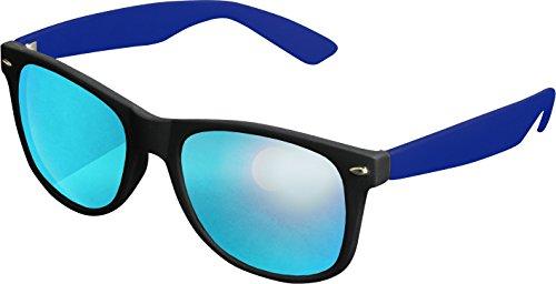 MSTRDS Likoma Mirror Unisex Sonnenbrille Für Damen und Herren mit verspiegelten Gläsern, black/royal/blue