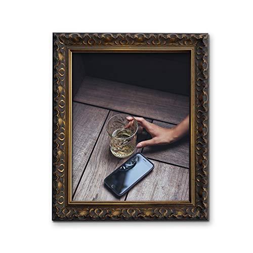 Tailored Frames-Vienna Gold, Vintage Shabby Chic Bilderrahmen Größe A4
