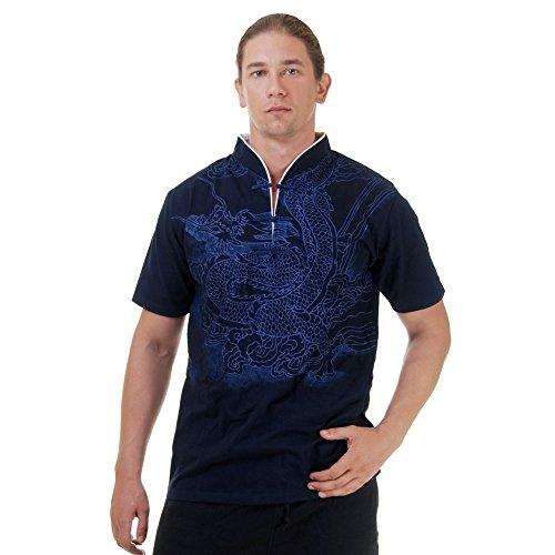 Kung-Fu,Tai-Chi & Meditations T-Shirt Baumwolle Größe M Blau