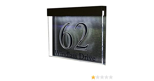 6455246852eb Brightsign Excelsior LED Designer Acrylic House Number Plaque: Amazon.co.uk:  DIY & Tools