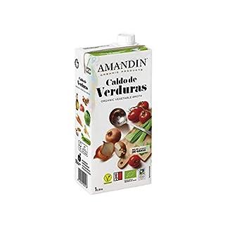 Amandin Organic Vegetable Stock 1 Litre (Pack of 6)