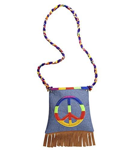 Hippie Handbag CND Emblem Fringe