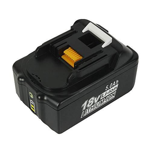 BL1850B 18V 5,0Ah Li-ion Ersatzakkus für Makita BL1850 BL1850B BL1860B BL1860 BL1830 BL1840 BL1845 BL1815 BL1820 BL1835 194205-3 194204-5 LXT-400 18V Akku Werkzeugbatterien mit Indikator