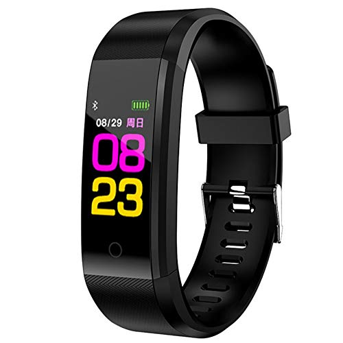 ZGYYDY Braccialetto Sportivo intelligenteSmart Wrist Band Fitness Heart Rate Monitor Blood Pressure Pedometer Health Running Sports Smart Watch Men Women for iOS Androi,Black