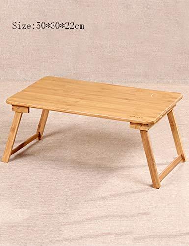 GUI Faule Tisch-Bambus-Bett mit Laptop-Schreibtisch-Faule Tisch-tragbarer Computer-Schreibtisch-Speicher-Raum,Klein (Computer-schreibtisch-speicher Kleiner)