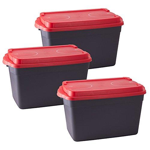 Stapelboxen Allzweckkiste Allzweckbox Box Kiste Aufbewahrungsbox Kunststoffbox - Das Material ist bruchsicher, stoßfest und reißt nicht ein. Es ist zudem Widerstandsfähig gegen viele Säuren und kalte Umgebungstemperaturen. - 60 Liter - 3 Stück