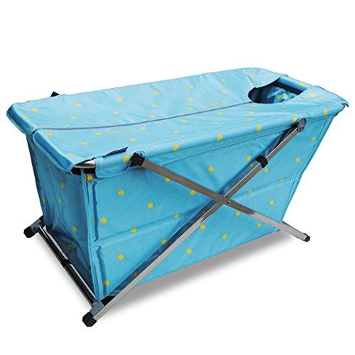 JCOCO Dicker und länger Faltbarer wannenfreier aufblasbarer wasserdichter Stoff Kinderbadewanne innen und außen anwendbar für Personen unter 175cm (Farbe : Blue 2) -