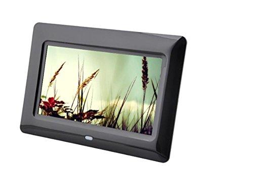 Digitale Bilderrahmen Digital-Foto-Rahmen u. HD-Videorahmen mit Bewegungs-Sensor 7 InchBuilt-In Lithium-Batterie Digital-Foto-Rahmen-Anzeigen-Spieler Elektronisches Foto-Album , black