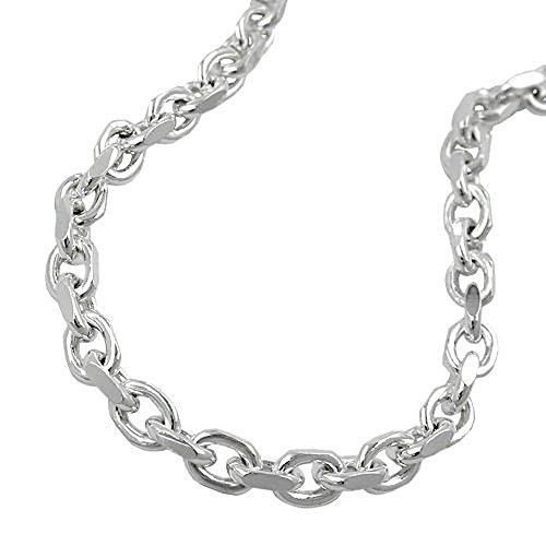 ASS 925 Silber Anker Kette Armband 19 cm, 3,5 mm, diamantiert