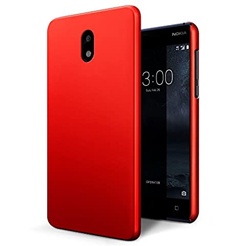 Housse Protection Nokia Rouge - Coque Nokia 3, SLEO Etui Rigide Ultra