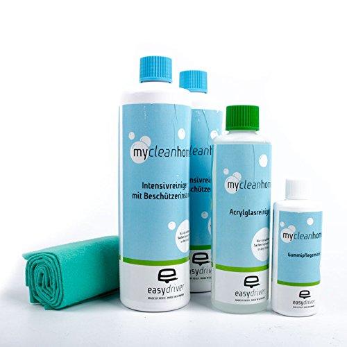 Reich-easydriver Reinigungs-, Wasch-Set mit 6 Produkten, Kunststoff, Gummi Pflege für Wohnwagen oder Wohnmobil