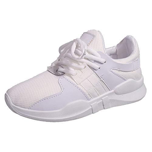 OSYARD Chaussure de Sport Femme Basket de Running Fitness Jogging Course Sneakers Basses(Blanc,38.5 EU)