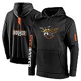 Phoenix Suns Devin Booker 1# Herren-Pullover Sweatshirt Lange Ärmel Micro Plus Samt Mit Kapuze Polyester Baumwolle Herbst Und Winter Sport Freizeit