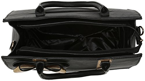 Swanky Swans - Ross Bow Detail Smart Bag, Borse a spalla Donna Nero (Black)