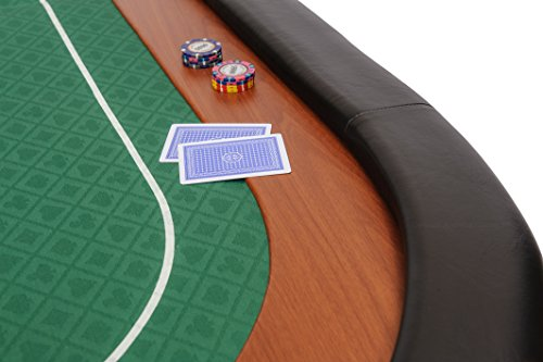 Riverboat Gaming Champion faltbare Pokerauflage mit grünem wasserabweisenden Stoff und Tasche - Pokertisch 180cm - 3