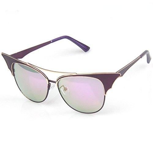 Wkaijc Katzenauge Mode Farbfilm Reflektierend Retro Meine Damen Persönlichkeit Komfort Sonnenbrillen Sonnenbrillen ,B