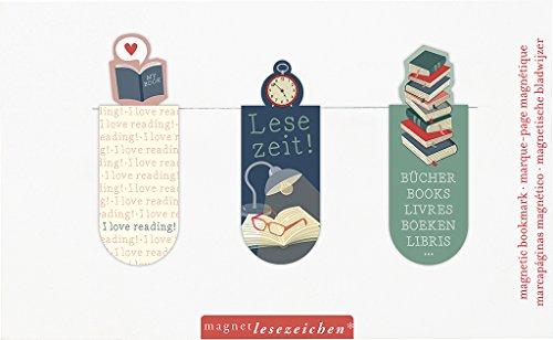 moses. 31130 Magnetlesezeichen Lesezeit 3er Set, magnetisches Lesezeichen, charmant illustriert
