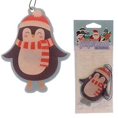 Penguin Christmas Hanging Air Freshener Cinnamon Apple Jingle Smells