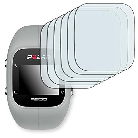 6x Golebo Crystal protection d'écran pour Polar A300 - (Clair comme du cristal, Montage sans bulles, A retirer