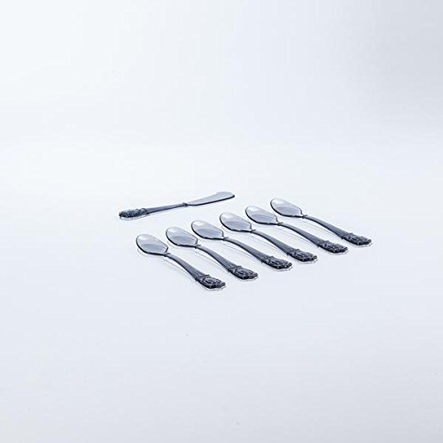 Baci BM 210223 Kuchen-Set, Acryl, Smoke, 1,12 x 1,12 x 1,12 cm