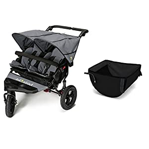 Out n About V4 Double Stroller with Basket - Steel Grey   14