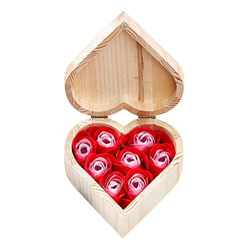 Kiky Rose Soap Wooden Gift Box für Valentinstag-Geburtstagsfeier-Hochzeit