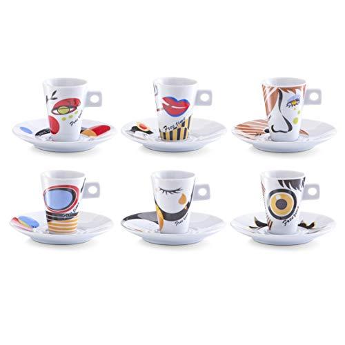 Zeller 26505 Servicio de Café Expreso, Porcelana, 30x15x8 cm 12 Unida