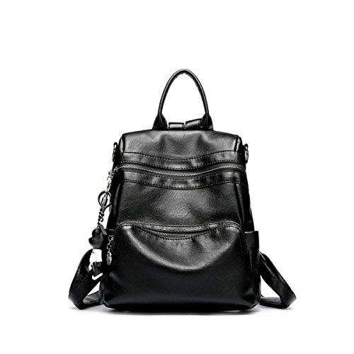 Weibliche Tasche Weiches Leder Schultertasche Schulter Handtasche Mädchen Student Reise Multifunktionale Lässige Tasche B
