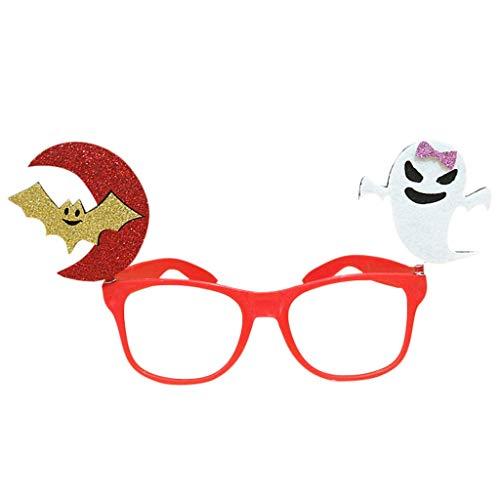 Ogquaton Halloween Brille, Kürbis Fledermaus Ghost Tricky Eyewear Party Kostüm Streich Requisiten Fun Premium Qualität (Fledermaus Kostüm Streich)