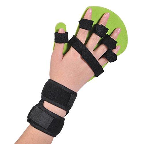 WAOBE Índice Dedo Accidente cerebrovascular Hemiplejía Equipo de rehabilitación Espasmo Órtesis de rehabilitación de los dedos Órgano fijo Diapasón de aluminio ajustable Material PE , right