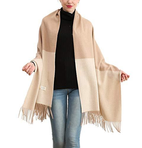 Acmede sciarpe e stole in misto da donna cashmere pashmina elegante tartan sciarpa coperta scialle per l'autunno inverno