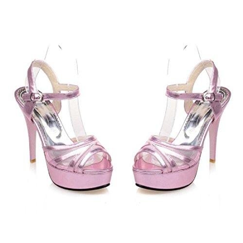 Femmes Talons hauts Été Mode Chaussures décontractées Des sandales Chaussons Pink