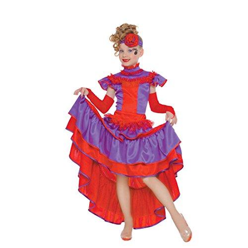 stüm Can Can Kleid Mädchen S 110/116 5 – 6 Jahre Mädchenkostüm Spanierin Kostüm Cancan Tänzerin Faschingskostüm Kinderkarneval Verkleidung Seniorita (Saloon-mädchen-kleider)