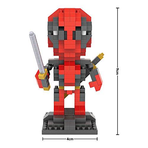 GOCOUP Deadpool Marvels superhero figure NanoBlocks Micro Diamond DIY Educational Toys