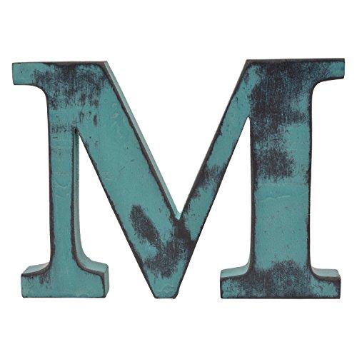 Shabby Chic Vintage grande 11cm letras de madera acabado a mano alfa