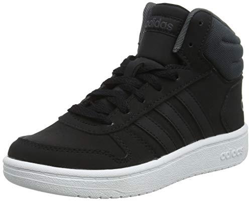 adidas Jungen Hoops MID 2.0 K Laufschuhe, Mehrfarbig Core Black/Grey Six F35797, 39 1/3 EU