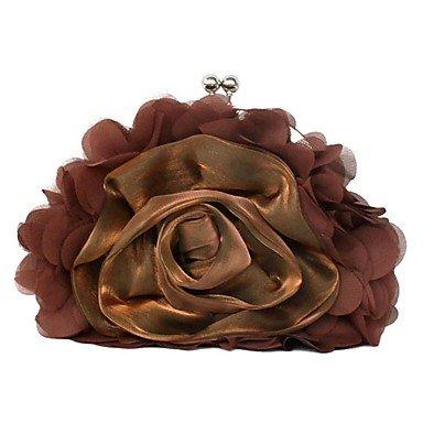 pwne L. In West Wome Die Elegante Hochwertige Handgefertigte Blume Diamanten Abend Tasche Coffee
