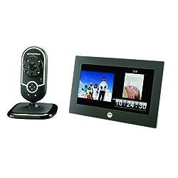 Motorola Babyphone Mfv700, Incl. Display, White - Digital Dect Baby Monitor