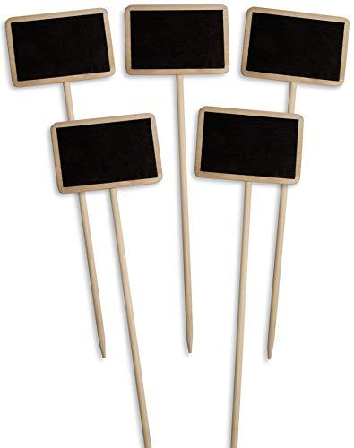 HomeTools.eu 6 Pezzi Cartelli Legno Possono Essere scritti su Rustico Vintage Possono Essere scritti su 22 Rettangolare Set di 6