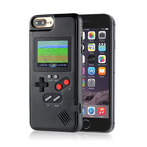 KOBWA Gameboy Case für iPhone, Retro 3D Gameboy Design Style Silikonhülle mit 36 Kleinen Spielen, Farbbildschirm, Videospiel-Cover für iPhone X/MAX, IPhone8 / 8 Plus, iPhone 7/7 Plus, iPhone 6/6 Plus (Iphone Handy-fall)